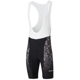 Shimano Team Bib Shorts Heren, black
